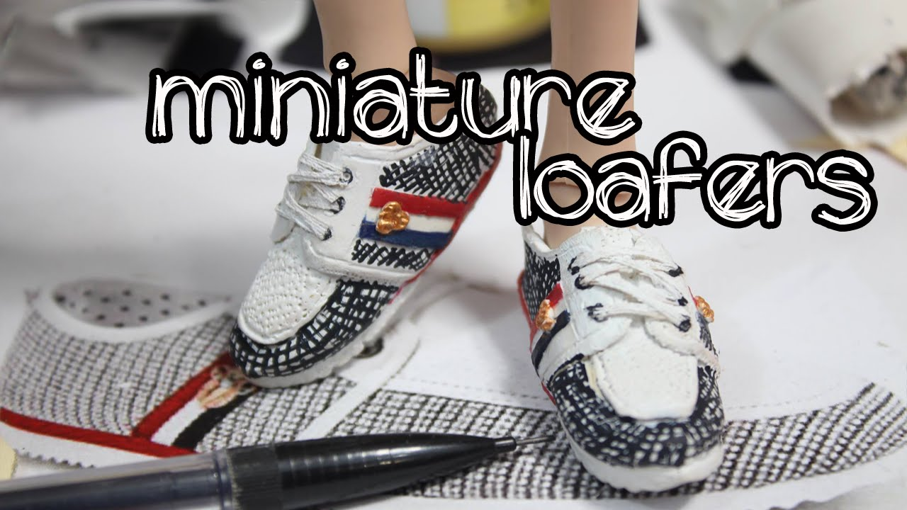 dcbfe208446984 Polymer clay tutorial miniature ken doll shoes  Loafers - YouTube