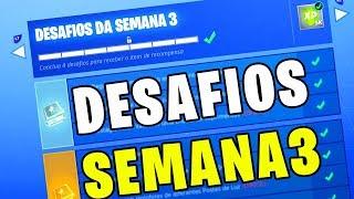 VAZOU OS DESAFIOS SEMANAIS DA SEMANA 3 DO PASSE DE BATALHA TEMPORADA 7 [Fortnite Battle Royale]