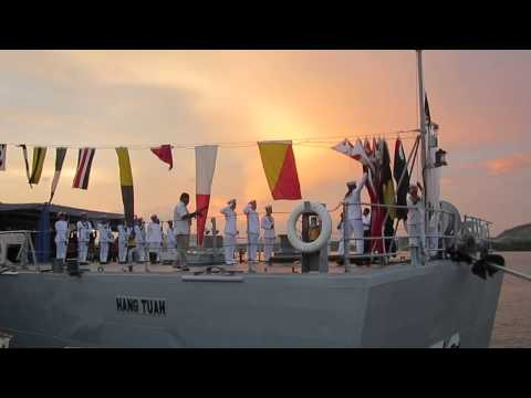 Sunset Ceremony at KD Hang Tuah, Royal Malaysian Navy