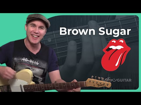 Brown Sugar - The Rolling Stones - Guitar Lesson Tutorial - Open G tuning - Keith Richards