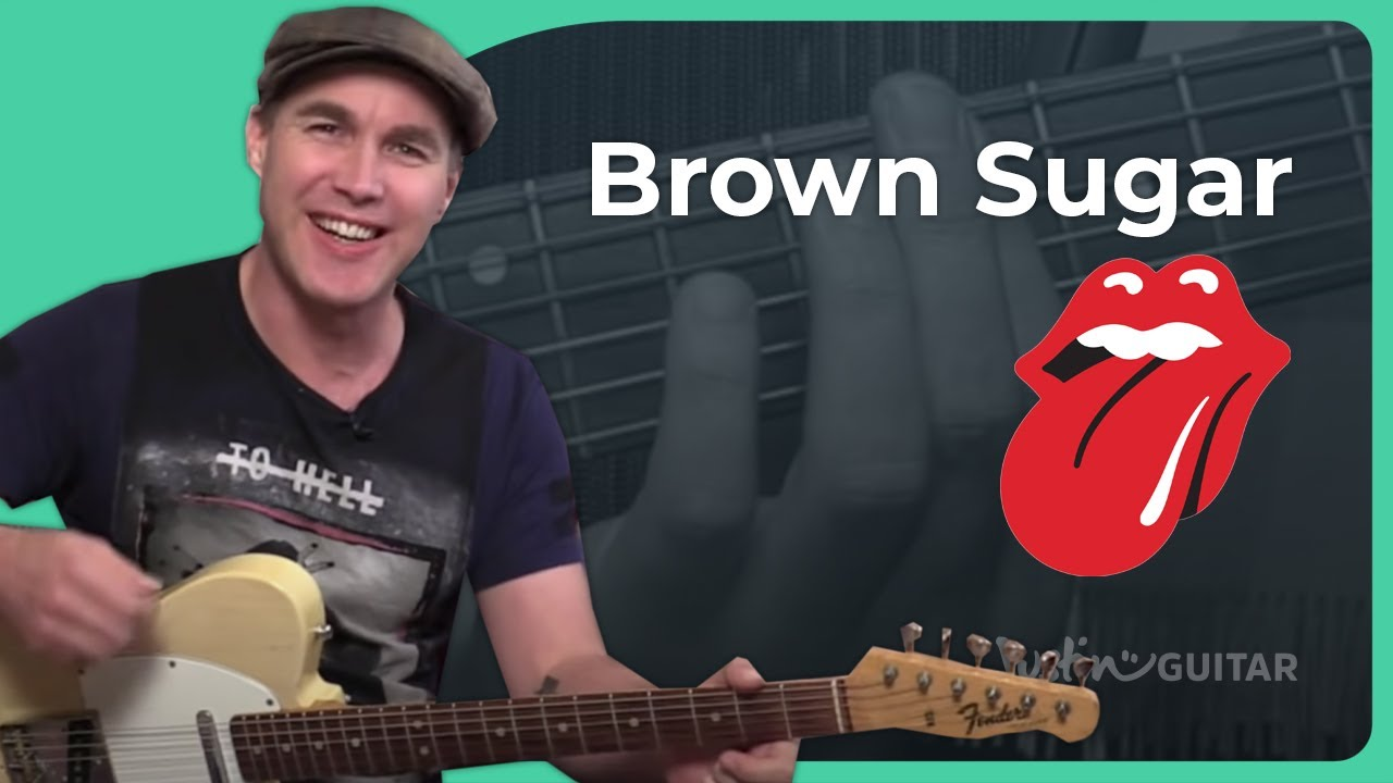 Brown Sugar The Rolling Stones Guitar Lesson Tutorial Open G