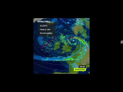 AMBER ALERT - UK Storm Aileen, courtesy of the Met Office