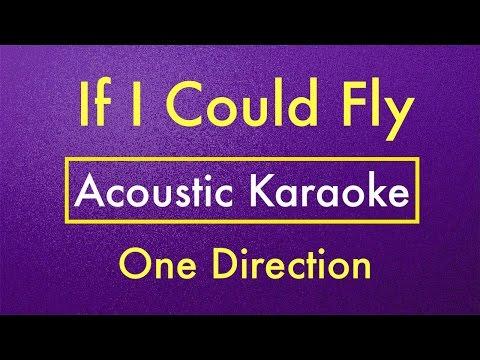 If I Could Fly - One Direction Karaoke Lyrics (Acoustic Guitar Karaoke) Instrumental