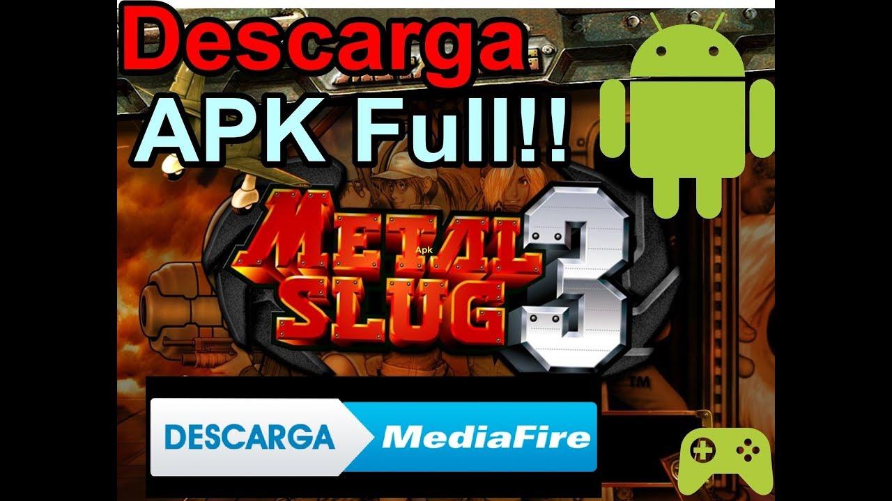 como descargar metal slug 3 para android apk