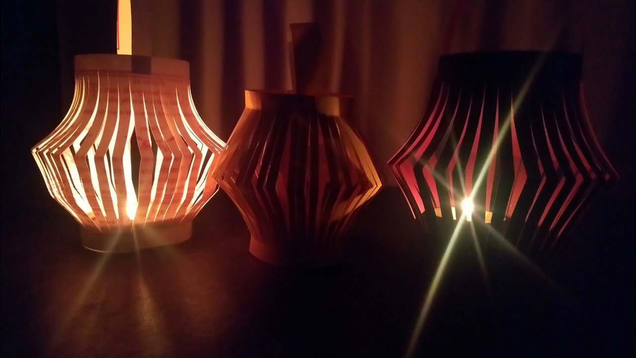 Diwali decoration how to make a paper night lamp lantern at home diwali decoration how to make a paper night lamp lantern at home hma035 aloadofball Images