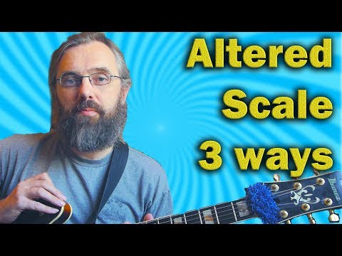 Altered Scale in three approaches - Jazz Guitar lesson