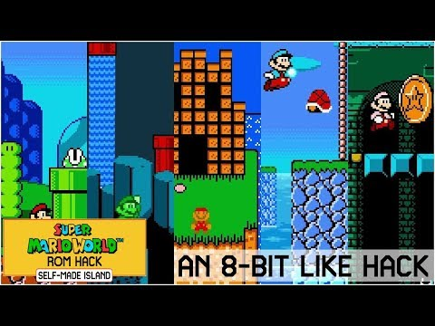 An 8-Bit Like Hack • Super Mario World ROM Hack (SNES/Super Nintendo)