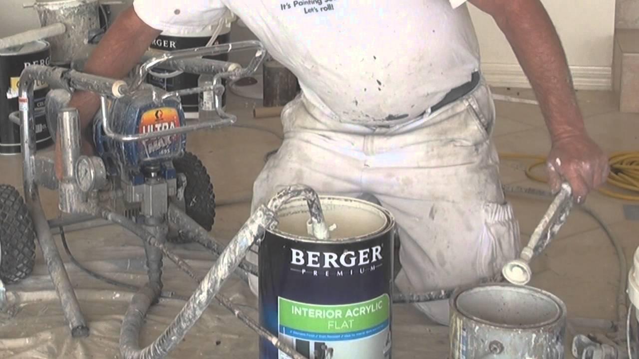 Airless Paint Sprayer Between Coats