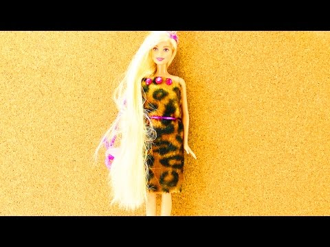 Barbie Kleid selber machen in 5 Minuten – cooles Outfit für Barbie – Fashion selber machen