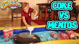 Repeat youtube video WUBBLE BUBBLE COKE MENTOS EXPERIMENT!