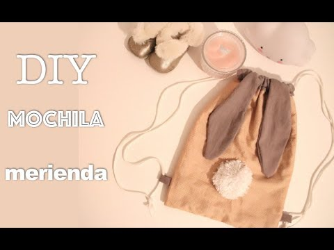 DIY MOCHILA MERIENDA | PREESCOLAR | LA VUELTA AL COLE