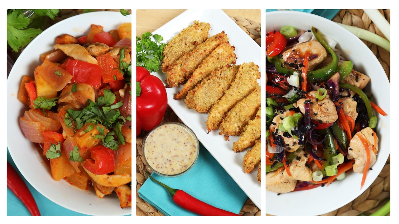 3 healthy chicken recipes dinner made easy youtube forumfinder Image collections