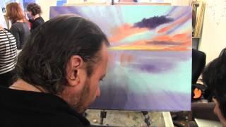 Научиться рисовать море,закат, пляж, Игорь Сахаров, живопись для начинающих, уроки рисования