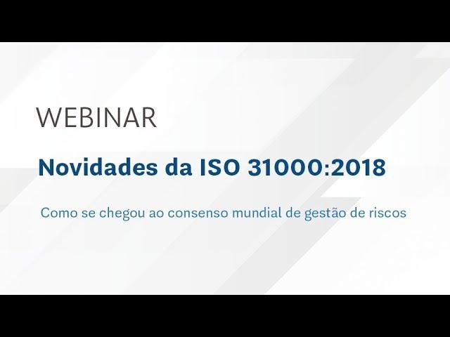 Novidades da ISO 31000 2018