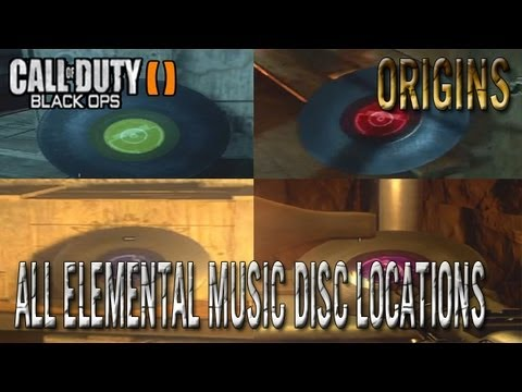 Black Ops 2 Zombies Origins All Music Discs/Records Locations ! (Blue,Red,Yellow And Purple Discs)