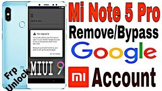 How to Delete Google Account Redmi Note 5 Pro | Remove Mi Account Redmi Note 5 Pro | Unlock frp Lock