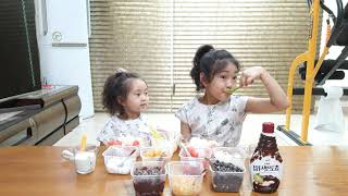 현지현주TV ~흔한자매~ 요리활동  여름별미 팥빙수만들…