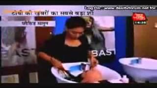 adaa khan takes hair spa