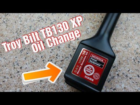 Lawnmower Honda engine oil change fast and easy. TroyBilt TB130 XP
