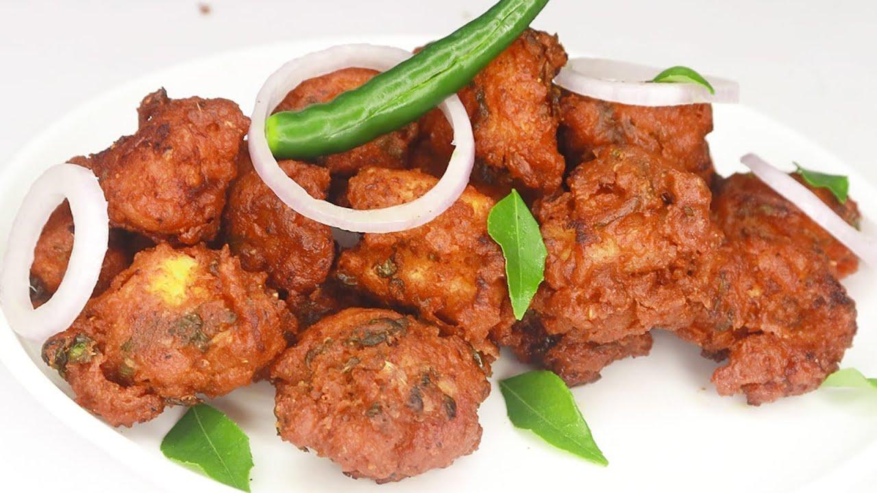 क र स प च कन पक ड घर म बन न क आस न र स प Chicken Pakoda Recipe In Hindi Crispy Chicken Pakora Youtube