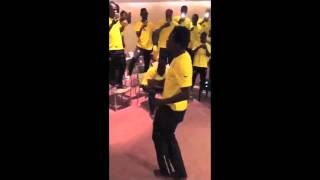 AFSTV - Hilarious! Ghana Black Stars AFCON initiation dance