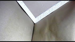 видео Как вырезать угол потолочного плинтуса