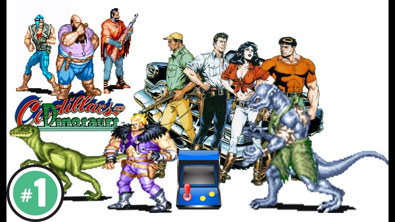 cadillacs and dinosaurs - Game Coop Arcade CPS-1 1993 - YouTube