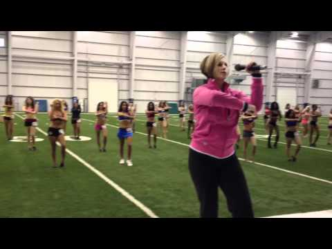 Colts 2012 Cheerleader Auditions New Dance