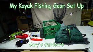 My Kayak Fishing Gear Set Up