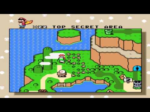 Gameplay Super Mario World - Donut Ghost House & Secret Exit and Top Secret Area + Donut Plains 3