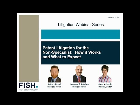Webinar | Patent Litigation for the Non-Specialist