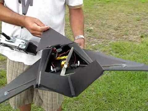 RC F-117 Foam Jet - RC Powers Design - YouTube