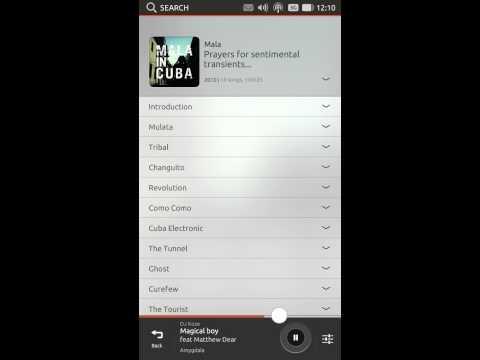 Ubuntu for phones - app design - Music app bottom edge