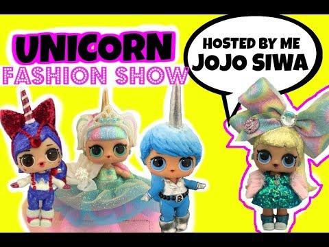 LOL Unicorn Custom FASHION SHOW Part 2 Host Jojo Siwa Doll a GG Custom