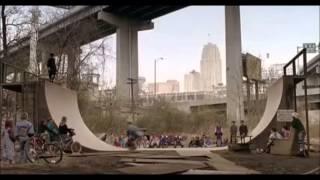 Airborne skate scene