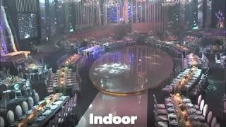 3D Projection Mapping - Bride Entry, Groom Entry, Wedding Event - Indoor - Large Banquet Space