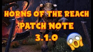 ESO : MORROWIND • NEW DLC - HORNS OF THE REACH • PATCH NOTE + NOUVEAUX SETS
