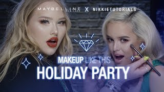 Holiday Makeup Look Tutorial Ft. NikkieTutorials + CassidySecrets | Maybelline New York