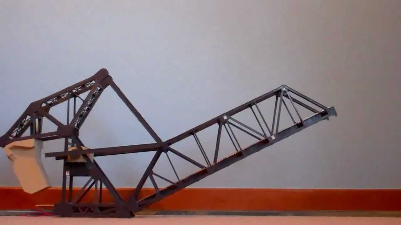 Walthers Ho Scale Bascule Bridge In Action Youtube