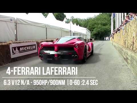 10 Fastest Accelerating Cars From 0-60 | 2018