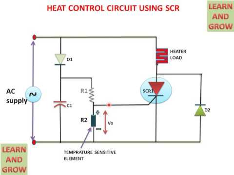 heat control circuit using scr learn and grow youtube