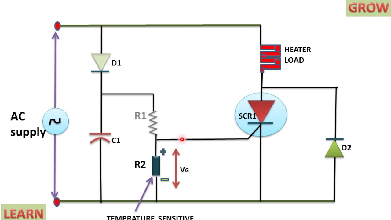 small resolution of heat control circuit using scr youtube 3 phase scr heater wiring diagram