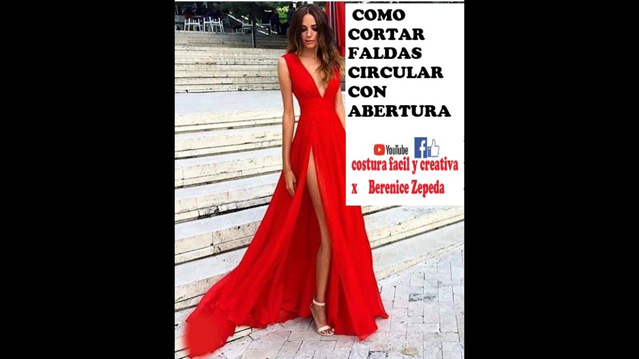 87a71e0875 FALDAS CIRCULARES CON ABERTURAS - parte 1 - YouTube