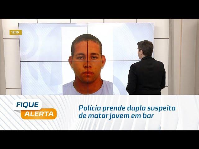 Polícia prende dupla suspeita de matar jovem em bar na Av. Durval de Góes Monteiro