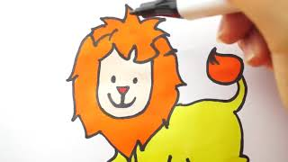 Coloring Pages Lion And How To Draw l Coloring Book Videos For Children