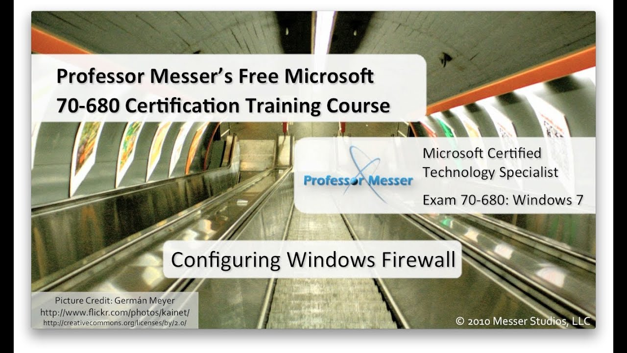 Configuring Windows 7 Firewall Microsoft 70 680 45 Youtube
