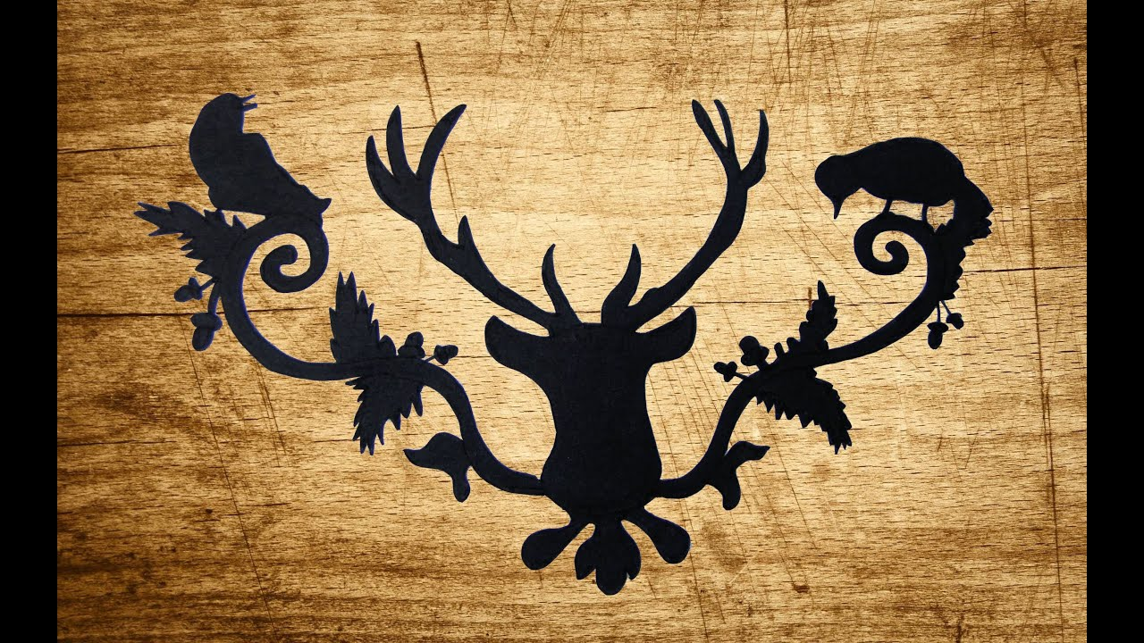 Drawing a Decorative Deer Silhouette - YouTube