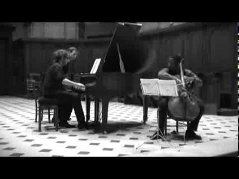 Schnittke: Cello Sonata No.1 - II. Presto (Khari Joyner & Jules Matton)