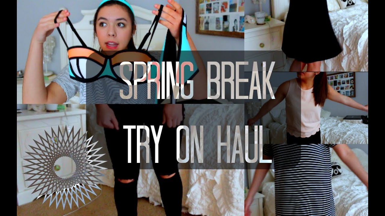 Spring Try-On Clothing Haul 2015! F21, Brandy, Triangl, TOPSHOP + MORE