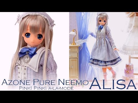 Box opening & Review - Azone Pure Neemo - Pink! Pink! a-la-mode ALISA Purple x Pink